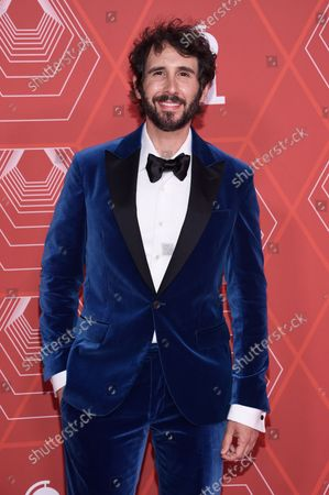 Stock Image of Josh Groban arrives at the 74th annual Tony Awards at Winter Garden Theatre, in New York