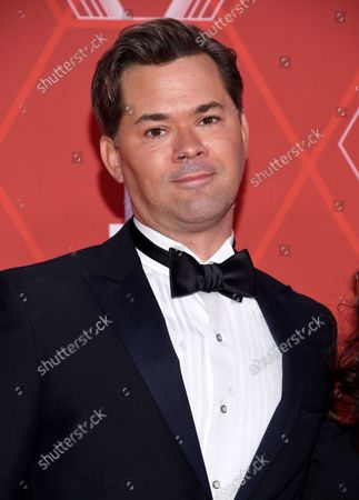 Andrew Rannells arrives at the 74th annual Tony Awards at Winter Garden Theatre, in New York