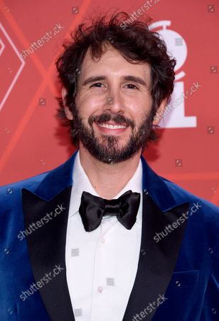 Josh Groban arrives at the 74th annual Tony Awards at Winter Garden Theatre, in New York