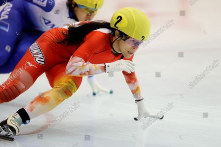 Sumire Kikuchi - Short Track Skating :  The 32nd All Japan Single Distances Short Track Speed Skating Championships  Women's 1500m final  at Teisan ice skating training center in Nagano, Japan.