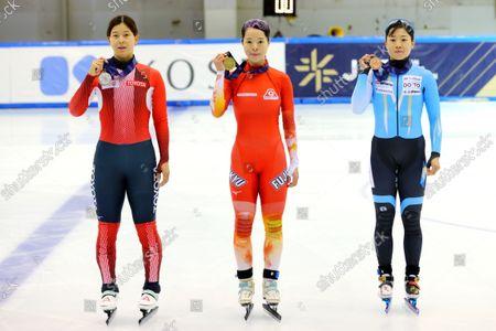 Editorial image of The 32nd All Japan Single Distances Short Track Speed Skating Championships, Nagano, Japan - 25 Sep 2021