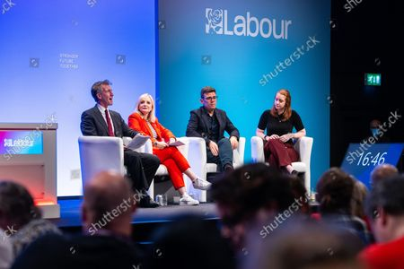 Panel discussion of regional devolved mayors featuring DAN JARVIS , TRACY BRABIN and ANDY BURNHAM . The third day of the 2021 Labour Party Conference , which is taking place at the Brighton Centre .