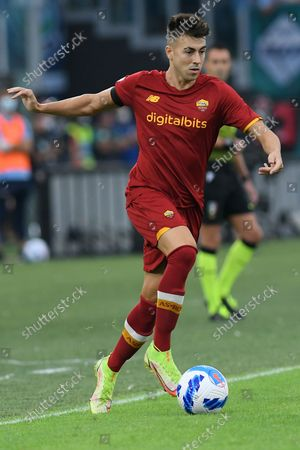 Stephan El Shaarawy of AS Roma during the Serie A match between SS Lazio v AS Roma at Olimpico stadium in Rome, Italy, September 26, 2021.