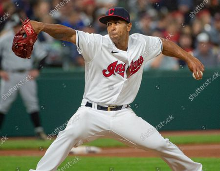 Stock Picture of Cleveland Indians relief pitcher Anthony Gose delivers against the Chicago White Sox during a baseball game in Cleveland