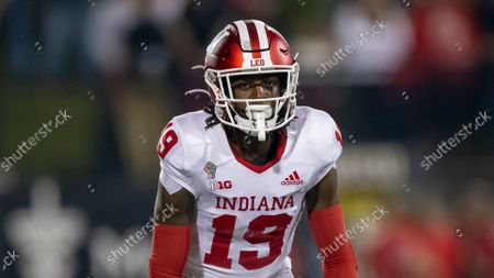 Indiana University wide receiver Malachi Holt-Bennett lines up for a play during an NCAA football game against Western Kentucky University, in Bowling Green, KY. IU beat WKU 33-31