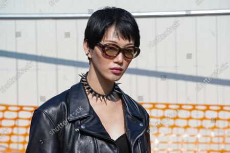 Editorial photo of Tod's show, Arrivals, Spring Summer 2022, Milan Fashion Week, Italy - 24 Sep 2021