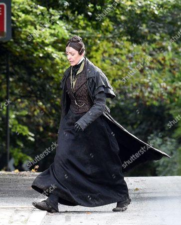 Exclusive - Suranne Jones continues to film 'Gentleman Jack'.