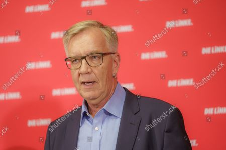 Press Conference Die Linke - Results of the 2021 Bundestag Elections and the State Parliament Elections in Mecklenburg-Western Pomerania and Berlin - Dietmar Bartsch, Group Chairman The Left Group in the German Bundestag