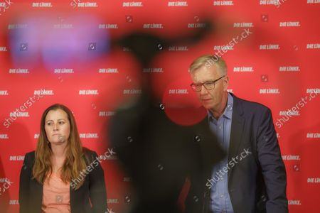 Editorial picture of Election press conference, Berlin, Germany - 27 Sep 2021