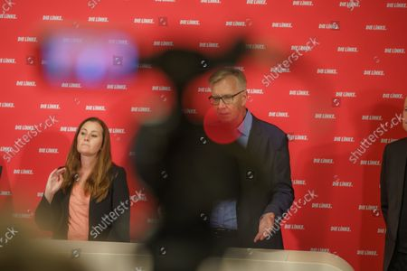 Press Conference Die Linke - Results of the 2021 Bundestag Elections and the State Parliament Elections in Mecklenburg-Western Pomerania and Berlin - Janine Wissler, Party Chairmen Die Linke and Dietmar Bartsch, Group Chairman The Left Group in the German Bundestag