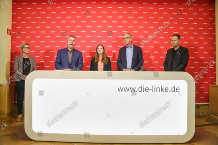 Editorial photo of Election press conference, Berlin, Germany - 27 Sep 2021
