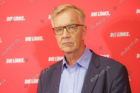 Stock Image of Press Conference Die Linke - Results of the 2021 Bundestag Elections and the State Parliament Elections in Mecklenburg-Western Pomerania and Berlin - Dietmar Bartsch, Group Chairman The Left Group in the German Bundestag
