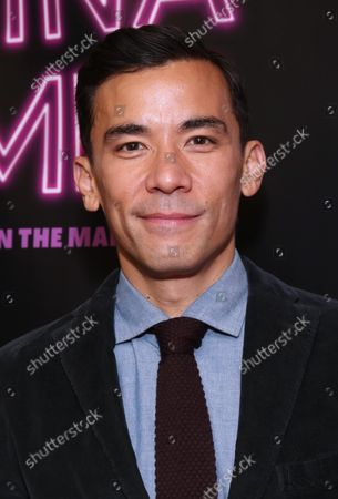 Stock Picture of Conrad Ricamora arrives at the opening night of A Commercial Jingle for Regina Comet, held at the DR2 Theatre