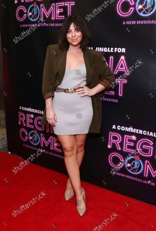 Krysta Rodriguez arrives at the opening night of 'A Commercial Jingle for Regina Comet'