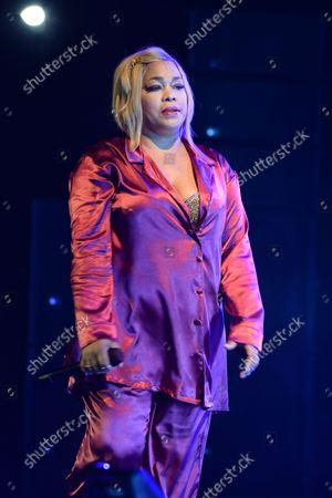 """Tionne """"T-Boz"""" Watkins of TLC performs"""