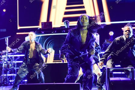 """Rozonda Ocielian Thomas better known by her stage name Chilli, performs during their ''Celebration of CrazySexyCool"""" tour"""