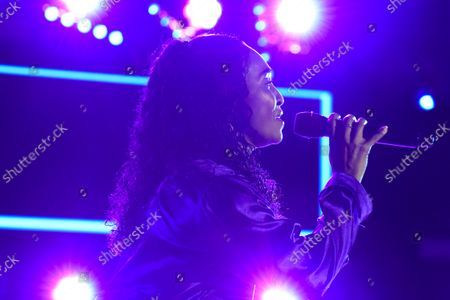 """Stock Picture of Rozonda Ocielian Thomas better known by her stage name Chilli, performs during their ''Celebration of CrazySexyCool"""" tour"""
