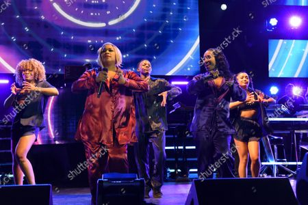 Editorial image of TLC in concert at the FPL Solar Amphitheater, Bayfront Park, Miami, Florida, USA - 27 Sep 2021