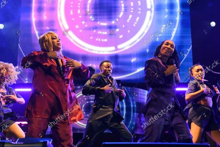 """Tionne Tenese Watkins better known by her stage name T-Boz, left, and Rozonda Ocielian Thomas, better known by her stage name Chilli of TLC perform during their ''Celebration of CrazySexyCool"""" tour"""