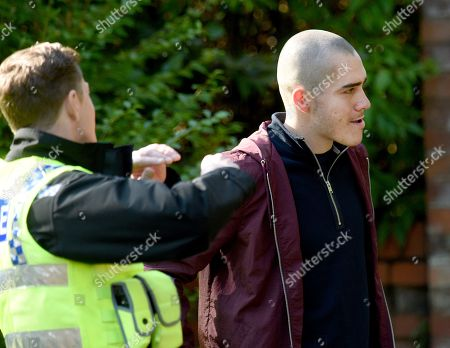 Exclusive - Abi Franklin waits outside the luxury home of Corey and when she spots him taking out the trash she takes a gun from her handbag. Lucky for Corey the police turn up to speak to him and scare Abi off, will she get her revenge on her sons killer another day? Maximus Evans plays Corey.