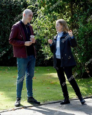Exclusive - Abi Franklin waits outside the luxury home of Corey and when she spots him taking out the trash she takes a gun from her handbag. Lucky for Corey the police turn up to speak to him and scare Abi off, will she get her revenge on her sons killer another day? Sally Carman plays Abi and Maximus Evans plays Corey.