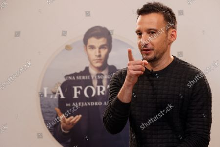 Spanish film maker Alejandro Amenabar during the presentation of his first TV Serie 'la Fortuna' in Madrid, Spain on 28 September 2021. The serie, produced between Movistar and AMC, is a story about treasure hunts, pirates and national heritage in the recovery of an underwater ship.