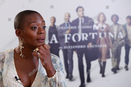 T'Nia Miller during the presentation of the TV Serie 'la Fortuna' by film maker Alejandro Amenabar in Madrid, Spain, 28 September 2021. The serie, produced between Movistar and AMC, is a story about treasure hunts, pirates and national heritage in the recovery of an underwater ship.