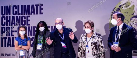 Editorial picture of Youth for Climate summit in Milan, Italy, 28 Sept 2021 - 28 Sep 2021