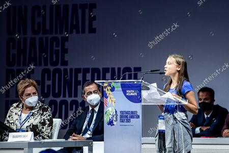 Editorial photo of Youth for Climate summit in Milan, Italy, 28 Sept 2021 - 28 Sep 2021