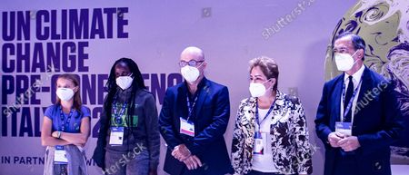 Editorial image of Youth for Climate summit in Milan, Italy, 28 Sept 2021 - 28 Sep 2021