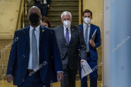House Majority Leader Steny Hoyer of Md., arrives for a House Democratic caucus meeting on Capitol Hill in Washington