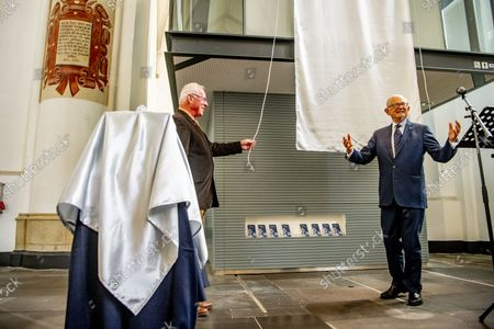 Stock Photo of Pieter Van Vollenhoven opens the Silver Museum Doesburg on Friday afternoon 24 September. The museum is located in the Martinikerk in Doesburg and displays a collection of silver mustard jars, mustard spoons and related silver objects.