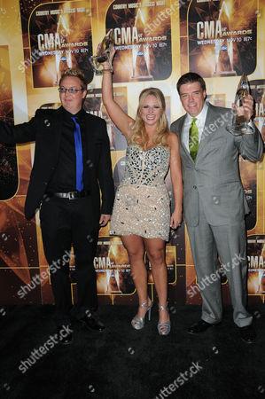 Stock Picture of Mike Wrucke, Miranda Lambert, Frank Liddell.