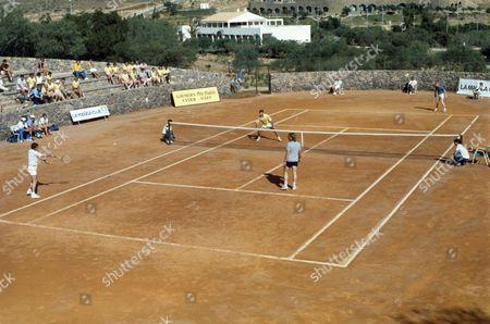 Tennis La Manga Club, Murcia, Spain - Sir Ian Botham and Malcolm MacDonald