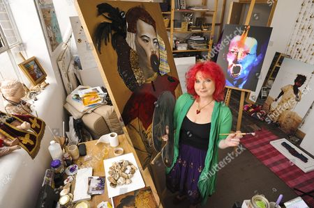 Triona Holden in her artist studio at Euroart in Tottenham.