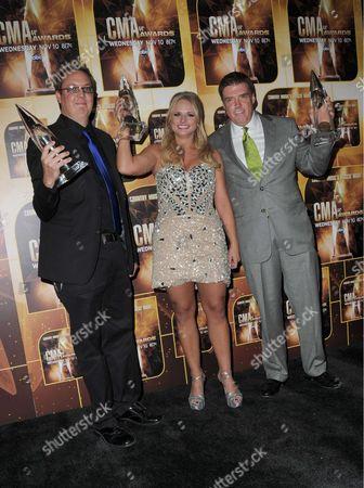 Mike Wrucke, Miranda Lambert, Frank Liddell.