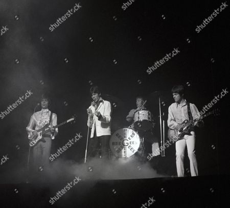Stock Image of The Bee Gees - Maurice Gibb, Barry Gibb, Colin Petersen and Vince Melouney