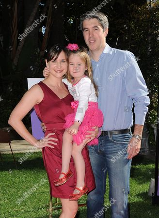 Kellie Martin, husband Keith Christian and daughter Margaret Heather Christian