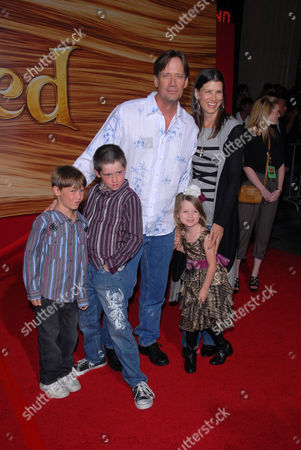Kevin Sorbo, wife Sam Jenkins, sons Braedon Cooper Sorbo and Shane Haaken Sorbo and daughter Octavia Flynn