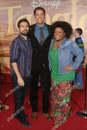 Joshua Gomez, Zachary Levi and Yvette Nicole Brown