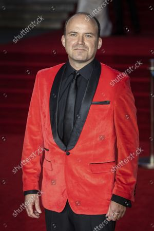 Stock Image of Rory Kinnear poses for photographers upon arrival for the World premiere of the new film from the James Bond franchise 'No Time To Die', in London