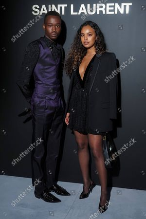 Editorial picture of Saint Laurent show, Arrivals, Spring Summer 2021, Paris Fashion Week, France - 28 Sep 2021