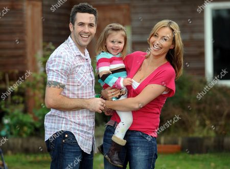 Sophie Blake with her husband speedway champion Scott Nicholls and their daughter Maya