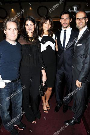 Stock Photo of Tom Hollander, Katrina Pavlos, Helena Christensen, David Gandy and Edoardo Ponti