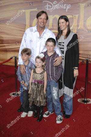 Kevin Sorvo and family的庫存圖片