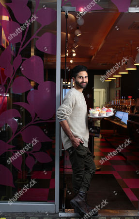 Editorial photo of Tarek Malouf, owner of The Humming Bird Bakery at his shop in Wardour Street, London, Britain - 11 Nov 2010