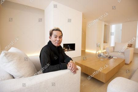 Editorial image of Yuki Torimaru in his home at Chester Square, Belgravia, London, Britain - 18 Oct 2010