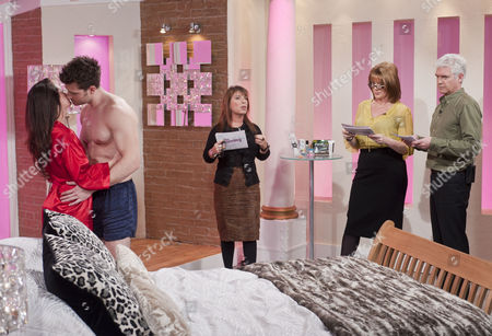 Ruth Langsford and Phillip Schofield with sex expert Jo Hemming and models