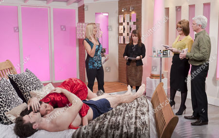 Ruth Langsford and Phillip Schofield with sex experts Maria Porsfelt and Jo Hemming