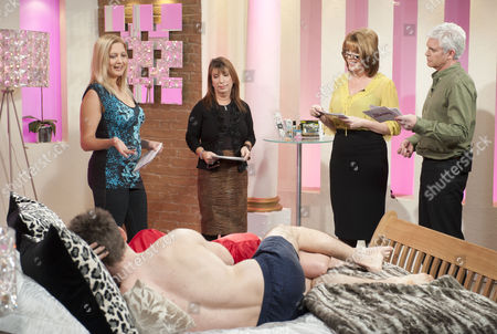 Stock Photo of Ruth Langsford and Phillip Schofield with sex experts Maria Porsfelt and Jo Hemming